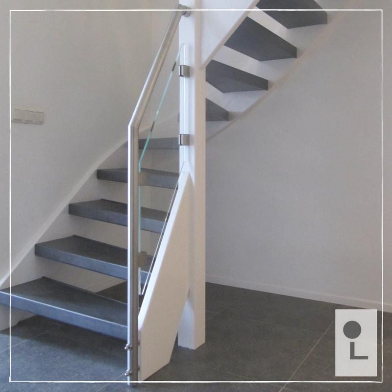 Glazen balustrade ruimtelijk en minimalistisch lumigrip for Balustrade trap