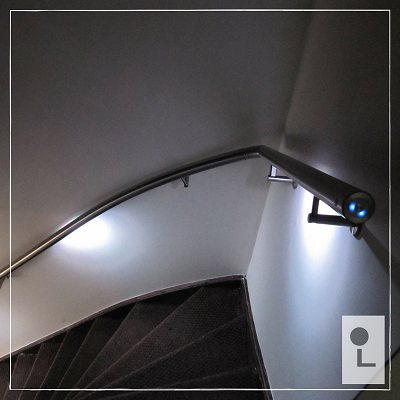 RVS Trapleuning met verlichting - Lumigrip