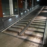 Station Gouda, RVS leuningen met LED systeem MonoColour HR Puur Wit, deel 1