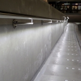 RVS trapleuning met LED station Tilburg