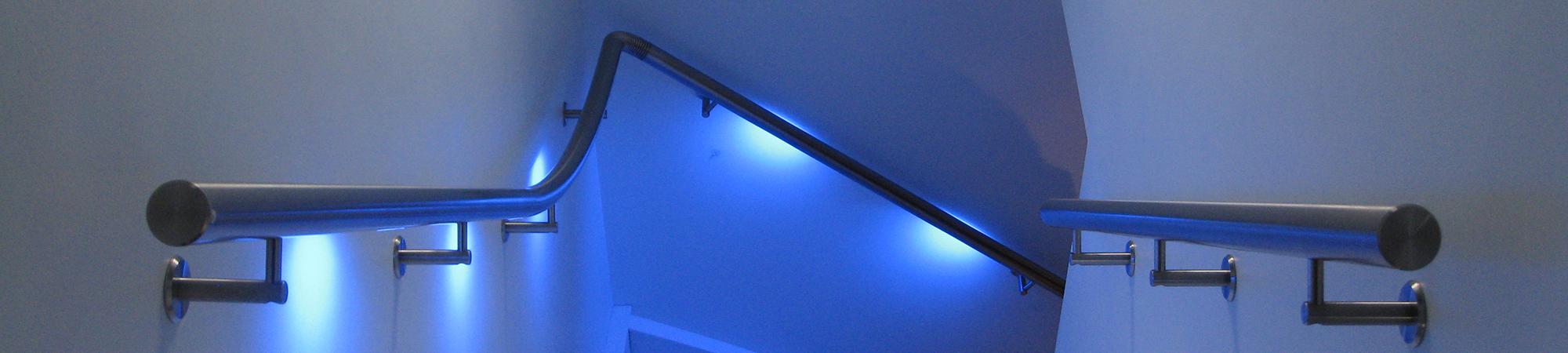 Lumigrip verlichte leuning balustrade