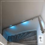 Houten trapleuning met LED trapleuning specialist regio Nijmegen