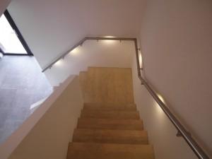 RVS trapleuning met LED verlichting MonoColour