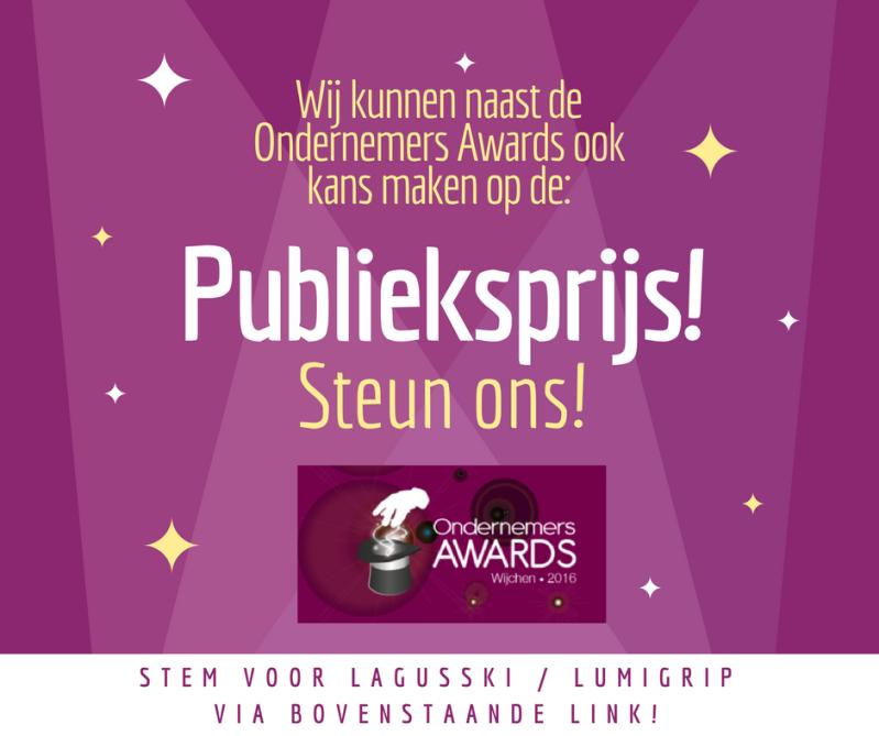 Genomineerd voor de voor Ondernemers Awards Wijchen